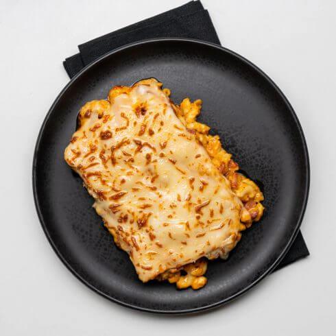 Macaroni au fromage et chorizo