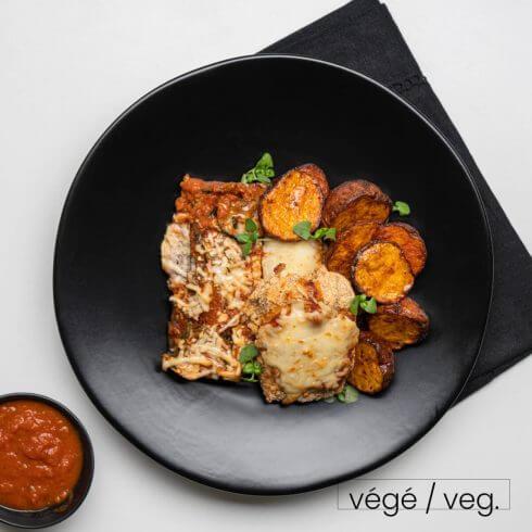Tofu parmigiana végétarien