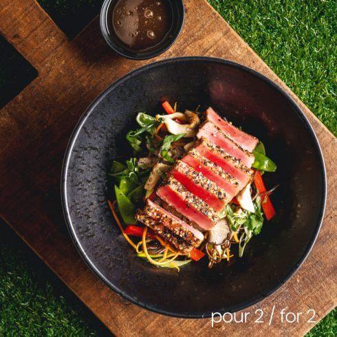 Longe de thon tataki grillé aux épices japonaises